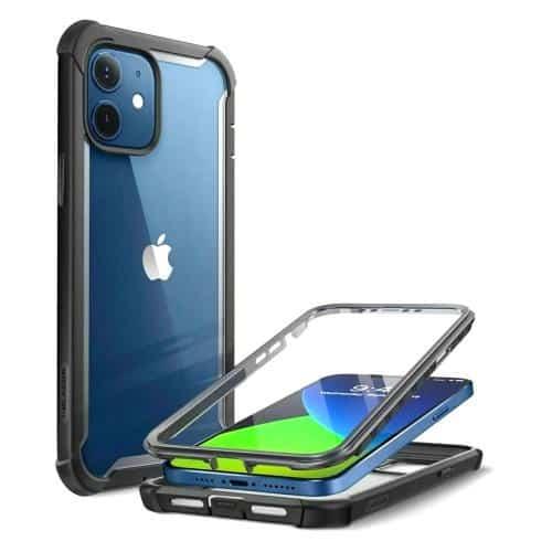 Full Body Rugged Case i-Blason Supcase Ares Apple iPhone 12 Mini Black