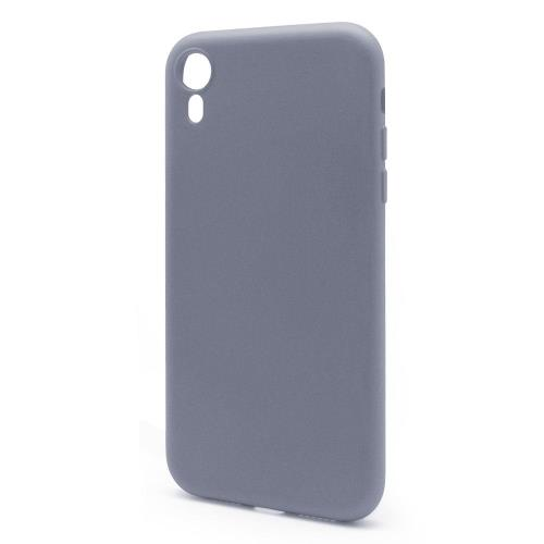 Θήκη Liquid Silicon inos Apple iPhone XR L-Cover Γκρι-Μπλε