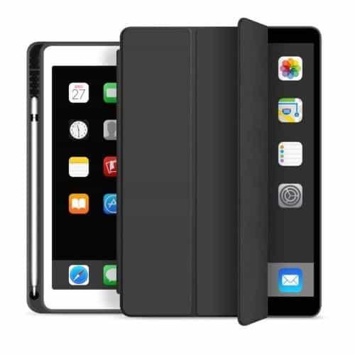 Flip Smart Case inos Apple iPad 10.2 2019 / 2020 / 2021 with TPU Back Cover & SC Pen Black
