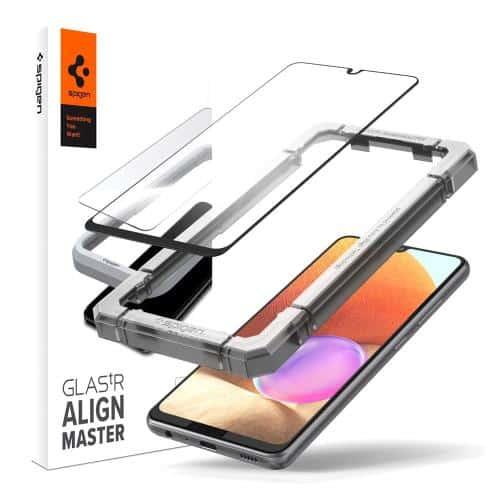 Tempered Glass Full Face Spigen Glas.tR Align Master FC Samsung A325F Galaxy A32 4G Black (1 pc)
