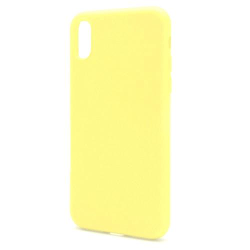 Liquid Silicon inos Apple iPhone X/ iPhone XS L-Cover Pastel Yellow