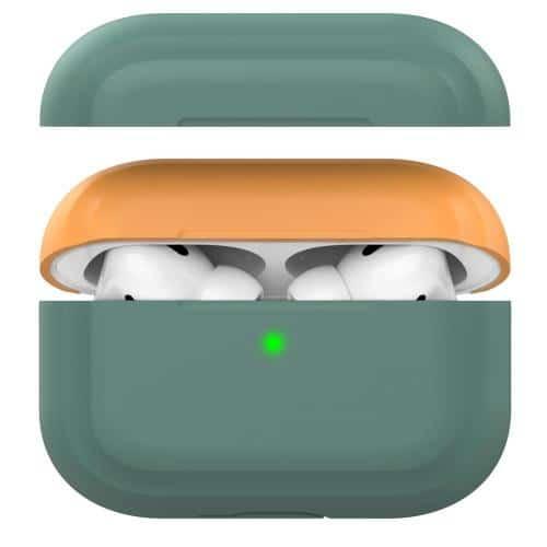 Silicon Case AhaStyle PT-P2 Apple AirPods Pro DuoTone Midnight Green-Orange