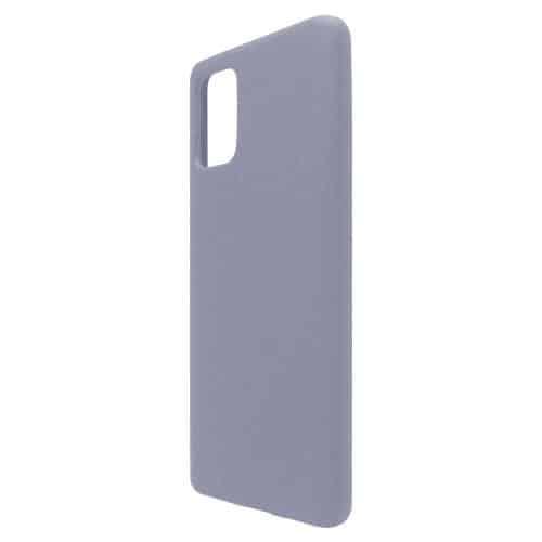 Θήκη Liquid Silicon inos Samsung A715F Galaxy A71 L-Cover Γκρι-Μπλε
