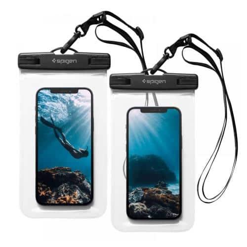 Universal Waterproof Case Spigen A601 for Smartphones up to 6.8'' Crystal Clear (2 pcs) (Bulk)