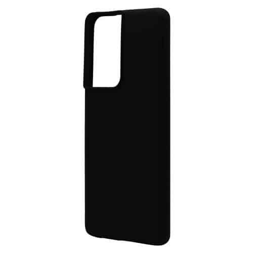 Θήκη Liquid Silicon inos Samsung G998B Galaxy S21 Ultra 5G L-Cover Μαύρο