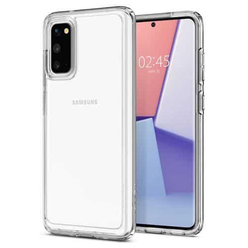 TPU & PC Back Cover Case Spigen Ultra Hybrid Samsung G980F Galaxy S20/ G981B Galaxy S20 5G Crystal Clear