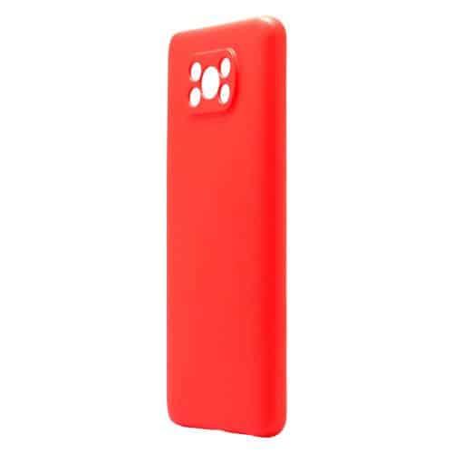 Liquid Silicon inos Xiaomi Poco X3 NFC/ Poco X3 Pro L-Cover Hot Red