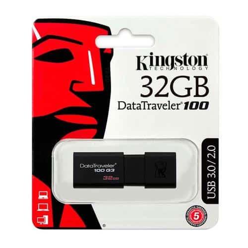 USB 3.1 Flash Disk Kingston DT100 G3 32GB Black