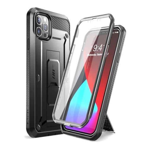 Full Body Rugged Case Supcase Unicorn Beetle Pro Apple iPhone 12 Pro Max Black