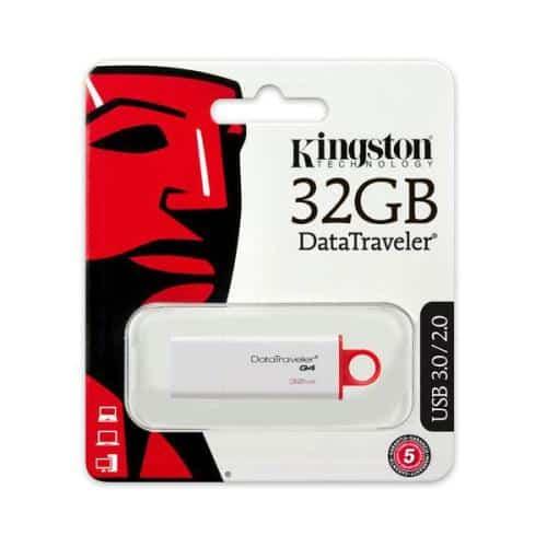 USB 3.1 Flash Disk Kingston DT G4 32GB White - Red