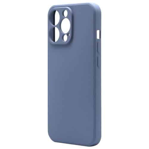 Θήκη Liquid Silicon inos Apple iPhone 13 Pro Max L-Cover Γκρι-Μπλε