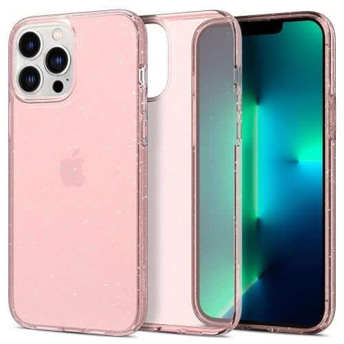 TPU Spigen Liquid Crystal Apple iPhone 13 Pro Glitter Rose Quartz