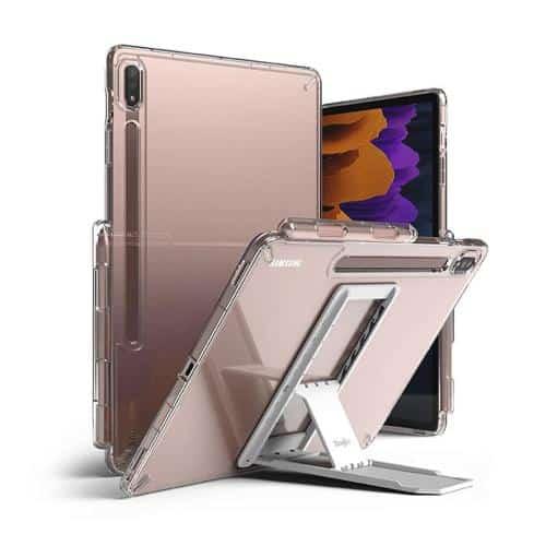 Θήκη TPU & PC με Σταντ Ringke Fusion Combo Samsung T970 Galaxy Tab S7 Plus Wi-Fi/ T976B Galaxy Tab S7 Plus 5G Διάφανο