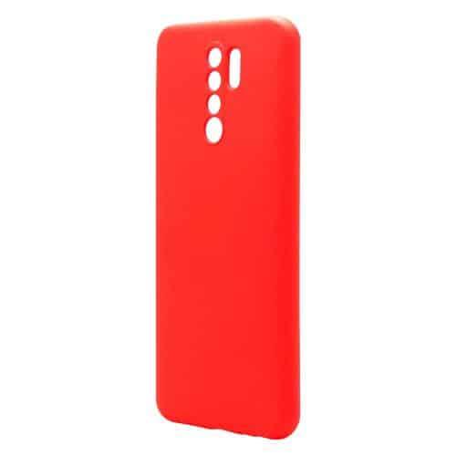 Θήκη Liquid Silicon inos Xiaomi Redmi 9 L-Cover Κόκκινο