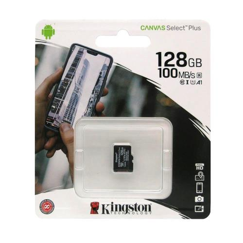 Κάρτα μνήμης Micro SDHC C10 UHS-I U1 Kingston Canvas Select Plus 100MB/s 128Gb