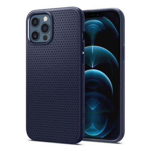 Θήκη Soft TPU Spigen Liquid Air Apple iPhone 12 Pro Max Μπλε