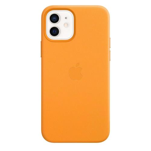 Leather Case with MagSafe Apple MHKC3 iPhone 12/ 12 Pro California Poppy
