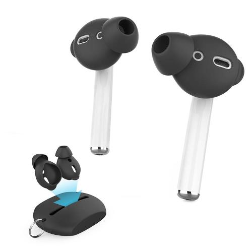 Silicon Cover with Case AhaStyle PT66 Apple Earpods & Airpods Enhanced Sound Black (3 pairs)