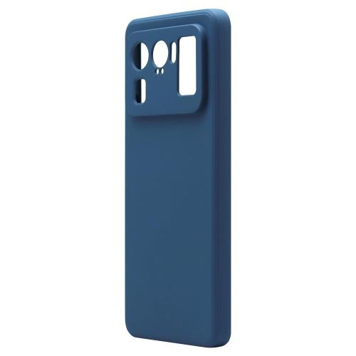 Θήκη Liquid Silicon inos Xiaomi Mi 11 Ultra L-Cover Μπλε Ραφ