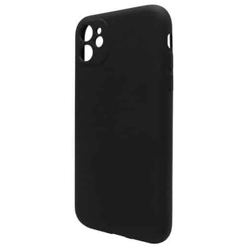 Θήκη Liquid Silicon inos Apple iPhone 11 L-Cover Μαύρο