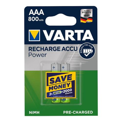 Μπαταρία Επαναφορτιζόμενη Varta AAA 800mAh NiMH 1.2V Ready2Use (2 τεμ.)