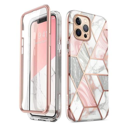 Full Body Rugged Case Supcase Cosmo Apple iPhone 12 Pro Max Marble