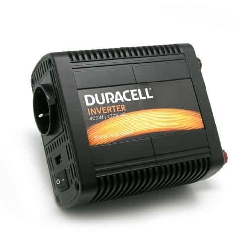 Inverter Αυτοκινήτου Duracell 12V σε 230V & Θύρα USB 2.4A 400W