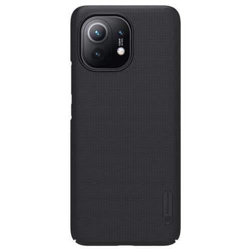 Soft TPU & PC Back Cover Case Nillkin Frosted Shield Xiaomi Mi 11 Lite 4G/ 5G Black
