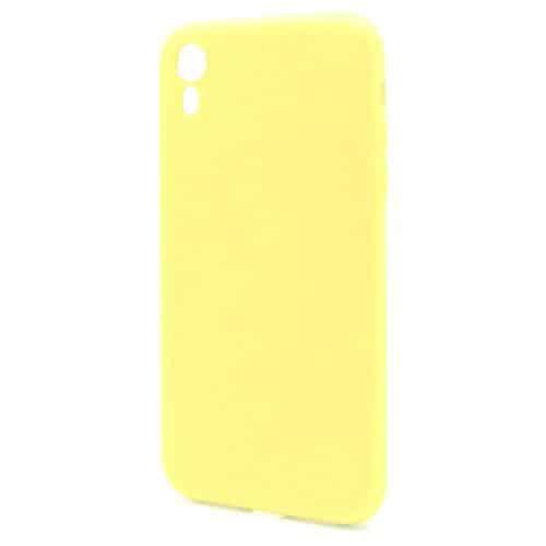 Θήκη Liquid Silicon inos Apple iPhone XR L-Cover Κίτρινο