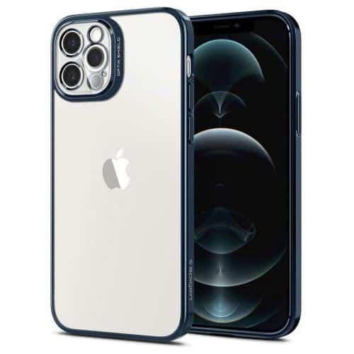 Θήκη Σιλικόνης Spigen Optik Crystal Apple iPhone 12 Pro Μπλε
