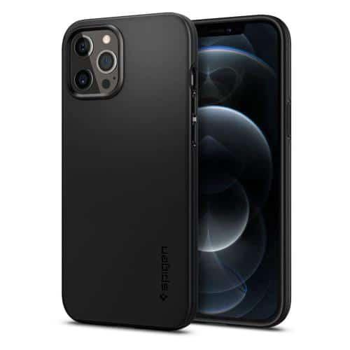 TPU Case Spigen Thin Fit Apple iPhone 12 Pro Max Black