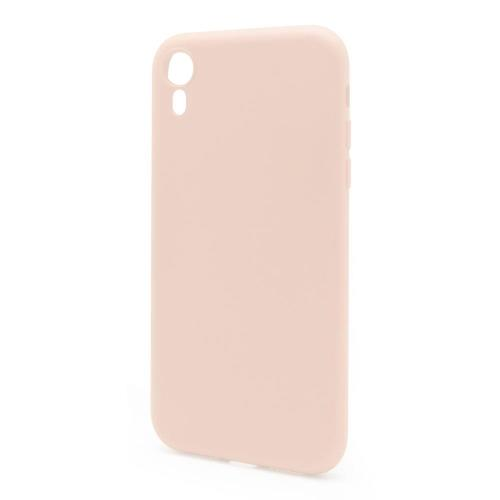 Liquid Silicon inos Apple iPhone XR L-Cover Salmon Pink