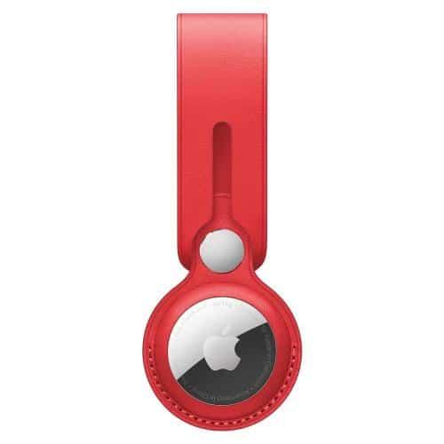 Leather Loop Apple MK0V3 AirTag Red