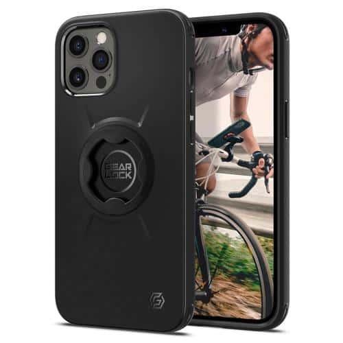 Θήκη TPU & PC Spigen Gearlock GCF132 for Bike Holder MF100/ MS100 Apple iPhone 12/ 12 Pro Μαύρο
