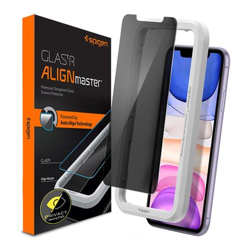 Tempered Glass Full Face Spigen Glas.tR Align Master Privacy Apple iPhone XR/ iPhone 11 (1 pc)