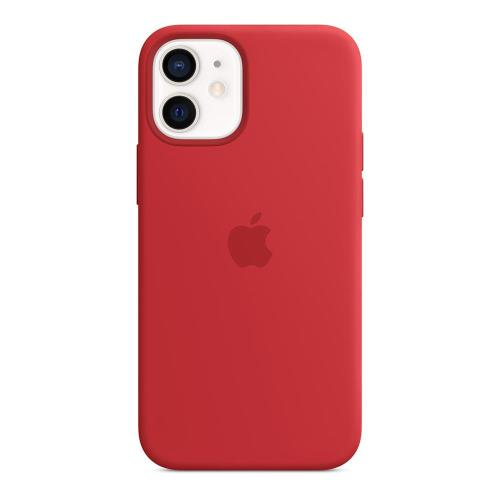 Silicon Case with MagSafe Apple MHKW3 iPhone 12 mini Red