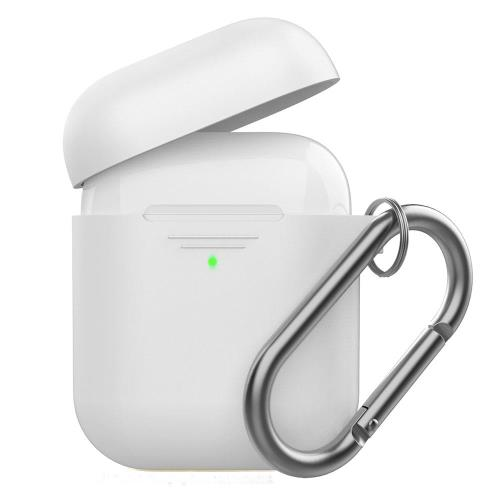 Silicon Case AhaStyle PT06-F Apple AirPods Premium with Hook White