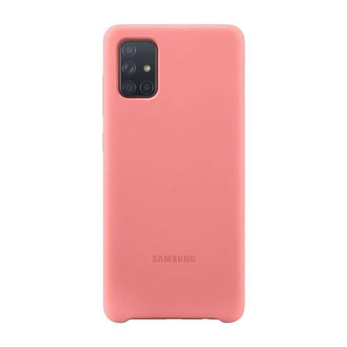 Silicon Cover Samsung EF-PA715TPEG A715F Galaxy A71 Pink