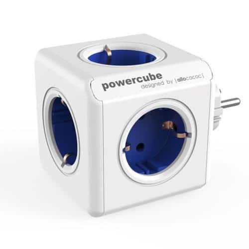 Πολύπριζο Allocacoc PowerCube Extended 4 Θέσεων & 2 Θύρες USB Μπλε