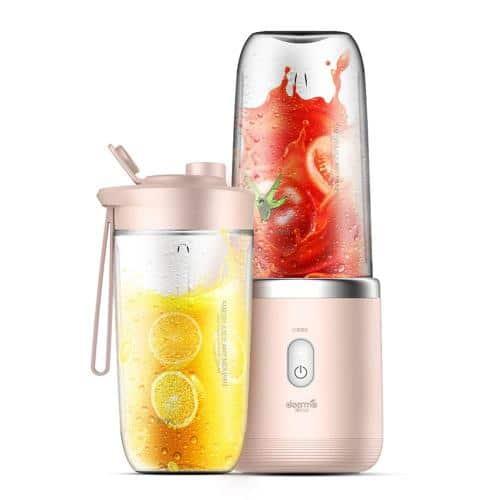 Rechargeable Mini Juice Blender 400ml Deerma DEM-NU05 140W Pink