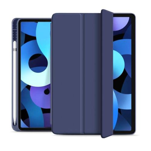 Flip Smart Case inos Apple iPad Air 4 2020 with TPU Back Cover & SC Pen Navy Blue