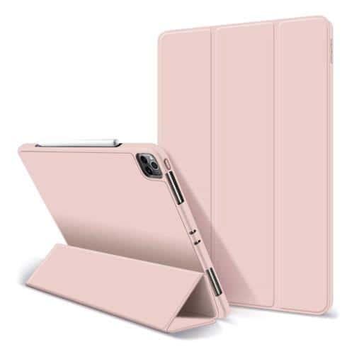 Θήκη Flip Smart Apple iPad Pro 12.9 (2021) με TPU & SC Pen Ροζ (Ασυσκεύαστο)