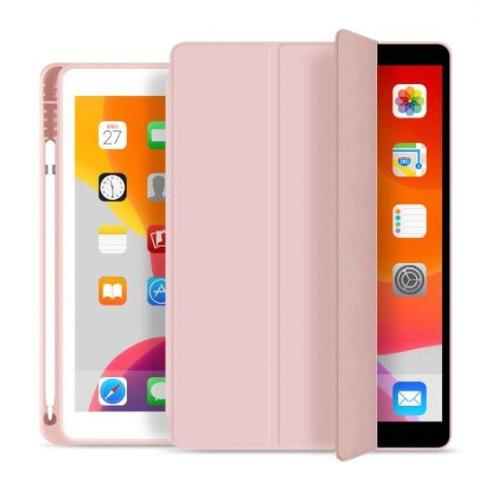 Θήκη Flip Smart inos Apple iPad 10.2 2019 / 2020 / 2021 με TPU & SC Pen Ροζ