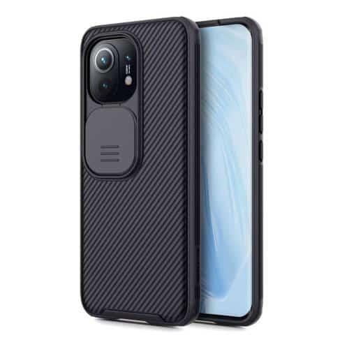 Soft TPU & PC Back Cover Case Nillkin Camshield Pro Xiaomi Mi 11 Black