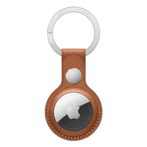 Leather Loop - Key Ring Apple MX4M2 AirTag Saddle Brown