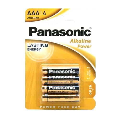 Battery Alkaline Power Panasonic AAA LR03 (4 pcs.)