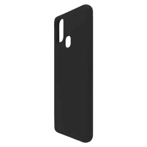 Θήκη Liquid Silicon inos Samsung A217F Galaxy A21s L-Cover Μαύρο