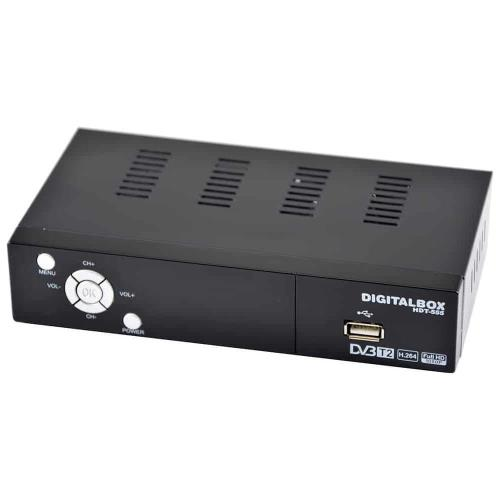 High Definition MPEG 4 Digitalbox HDT-555 T2 with Remote Control Learning
