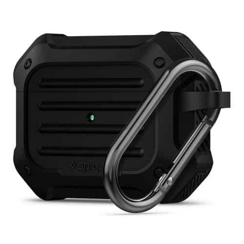 Θήκη Σιλικόνης Spigen Tough Armor Apple AirPods Pro με Γάντζο Μαύρο