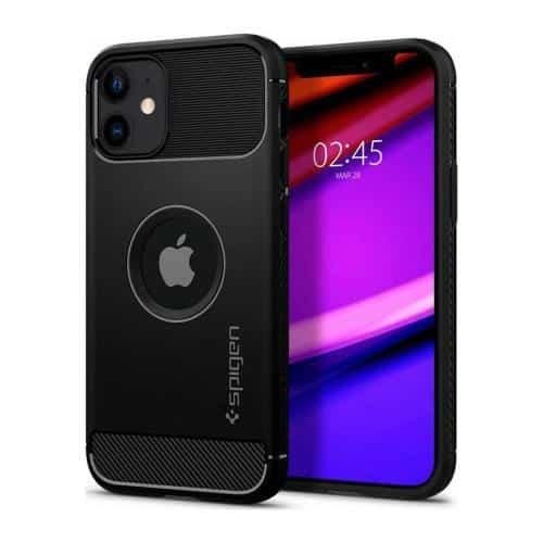 Soft TPU Case Spigen Rugged Armor Apple iPhone 12 Mini Matte Black